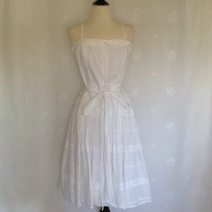 AMERICAN LIVING White Eyelet Dress Sz:8
